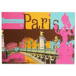 フランス ポストカード セーヌ川 アレクサンドル3世橋(Paris de mon coeur)