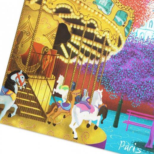 フランス ポストカード サクレ・クール寺院 メリー・ゴー・ラウンド(Montmartre)【画像2】