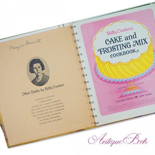 アメリカ 1960年 アンティーク本 レシピブック Betty Croker's 初版【FROSTING MIX ベティ・クロッカー】【画像2】