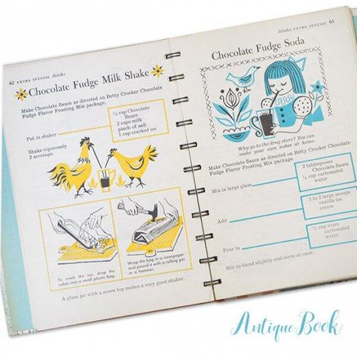 アメリカ 1957年 アンティーク本 レシピブック Betty Croker's【for Boys & Girls ベティ・クロッカー】【画像2】