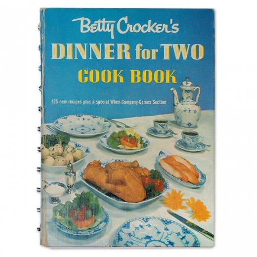 アメリカ 1958年 アンティーク本 レシピブック Betty Croker's 初版【Dinner for Two ベティ・クロッカー】