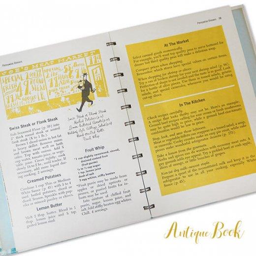 アメリカ 1958年 アンティーク本 レシピブック Betty Croker's 初版【Dinner for Two ベティ・クロッカー】【画像2】