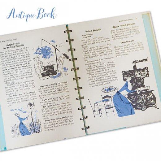 アメリカ 1958年 アンティーク本 レシピブック Betty Croker's 初版【Dinner for Two ベティ・クロッカー】【画像4】