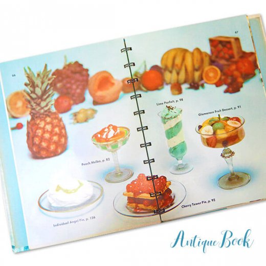 アメリカ 1958年 アンティーク本 レシピブック Betty Croker's 初版【Dinner for Two ベティ・クロッカー】【画像7】