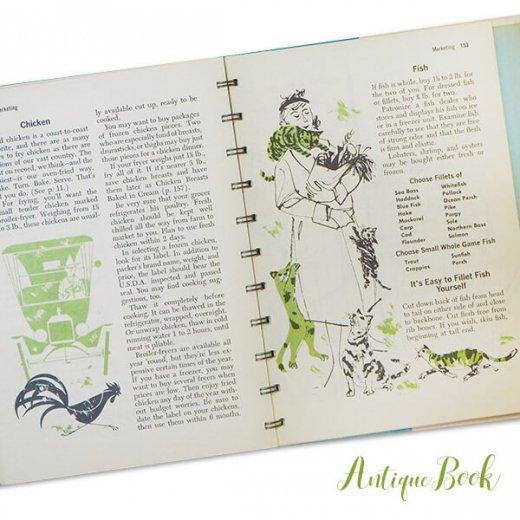 アメリカ 1958年 アンティーク本 レシピブック Betty Croker's 初版【Dinner for Two ベティ・クロッカー】【画像8】