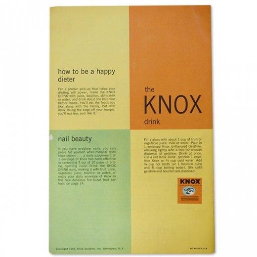 アメリカ 1963年 アンティーク本 レシピブック【KNOX drink ノックス ゼラチン】【画像8】