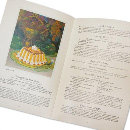 アメリカ 1930-31年 アンティーク本 レシピブック【KNOX dainty desserts ノックス ゼラチン】【画像4】