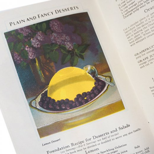 アメリカ 1930-31年 アンティーク本 レシピブック【KNOX dainty desserts ノックス ゼラチン】【画像5】