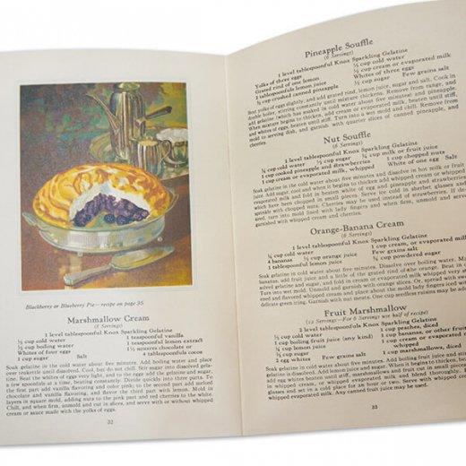 アメリカ 1930-31年 アンティーク本 レシピブック【KNOX dainty desserts ノックス ゼラチン】【画像6】