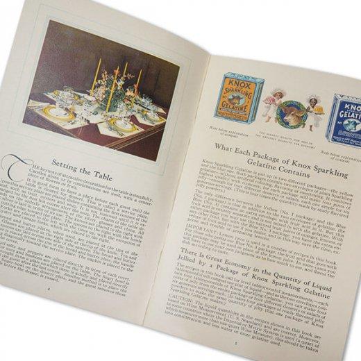 アメリカ 1930-31年 アンティーク本 レシピブック【KNOX dainty desserts ノックス ゼラチン】【画像8】