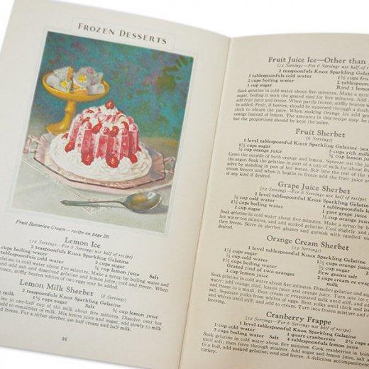 アメリカ 1930-31年 アンティーク本 レシピブック【KNOX dainty desserts ノックス ゼラチン】【画像9】