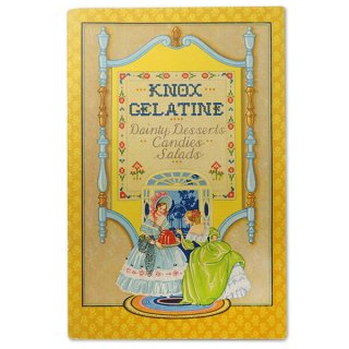 森ガール 雑貨 アメリカ 1930-31年 アンティーク本 レシピブック【KNOX dainty desserts ノックス ゼラチン】