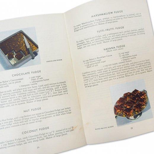アメリカ 1932年 アンティーク本 レシピブック【Baker's Chocolate ベーカーズチョコレート】【画像6】