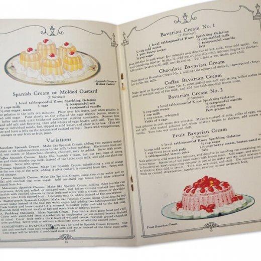 アメリカ 【希少】1927年 アンティーク本 レシピブック【KNOX dainty desserts ノックス ゼラチン】【画像5】