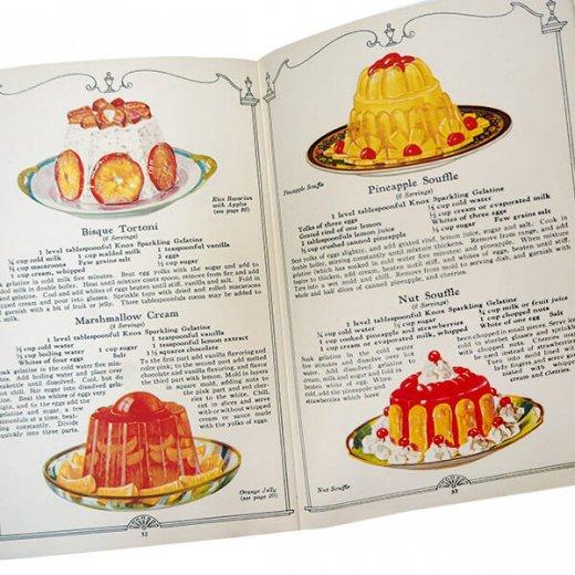 アメリカ 【希少】1927年 アンティーク本 レシピブック【KNOX dainty desserts ノックス ゼラチン】【画像6】