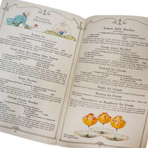 アメリカ 【希少】1927年 アンティーク本 レシピブック【KNOX dainty desserts ノックス ゼラチン】【画像7】