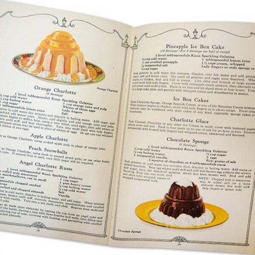 アメリカ 【希少】1927年 アンティーク本 レシピブック【KNOX dainty desserts ノックス ゼラチン】【画像8】