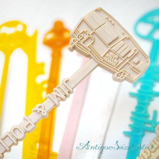 USA アンティーク マドラー  SwizzleSticks アドバタイジング 【Cタイプ・8本set】【画像9】