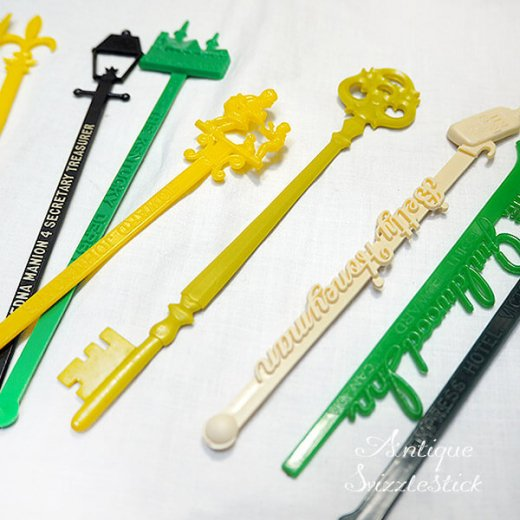 USA アンティーク マドラー  SwizzleSticks アドバタイジング 【Bタイプ・9本set】【画像5】