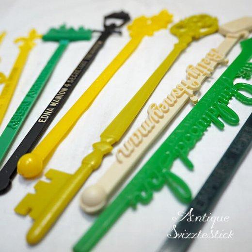 USA アンティーク マドラー  SwizzleSticks アドバタイジング 【Bタイプ・9本set】【画像9】