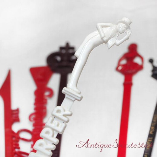 USA アンティーク マドラー  SwizzleSticks アドバタイジング 【Aタイプ・9本set】【画像4】