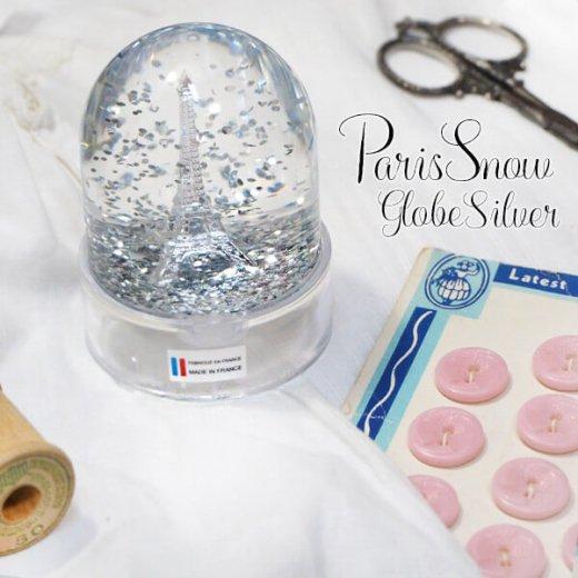 フランス スノードーム【Silver】スノーグローブ エッフェル塔  お土産 スーベニール 【画像3】