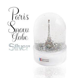 フランス スノードーム【Silver】スノーグローブ エッフェル塔  お土産 スーベニール