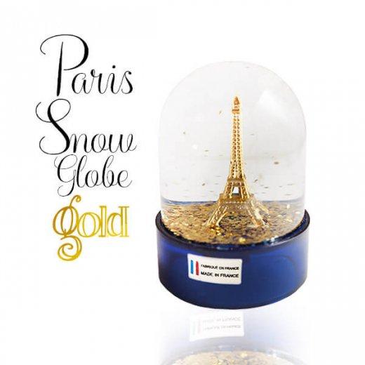 フランス スノードーム 【Gold】スノーグローブ エッフェル塔  お土産 スーベニール