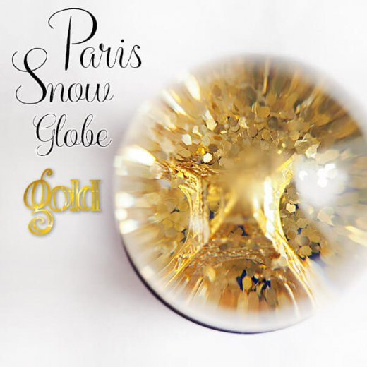 フランス スノードーム 【Gold】スノーグローブ エッフェル塔  お土産 スーベニール 【画像6】
