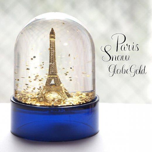 フランス スノードーム 【Gold】スノーグローブ エッフェル塔  お土産 スーベニール 【画像8】