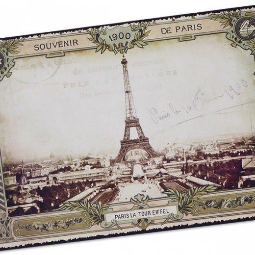 フランス ポストカード エッフェル塔 (souvenir de paris 1900)【画像2】