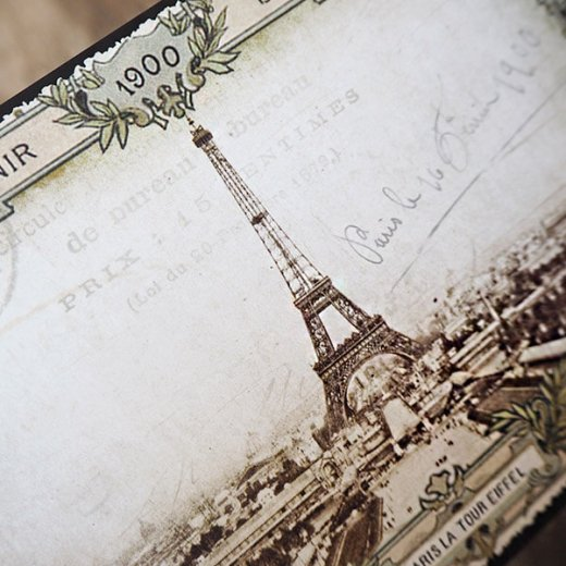 フランス ポストカード エッフェル塔 (souvenir de paris 1900)【画像4】
