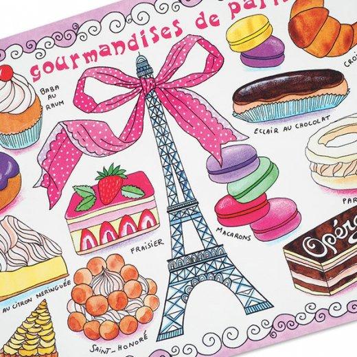 フランス ポストカード エッフェル塔  マカロン スイーツほか(les gourmandises de Paris)【画像2】