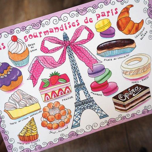 フランス ポストカード エッフェル塔  マカロン スイーツほか(les gourmandises de Paris)【画像4】
