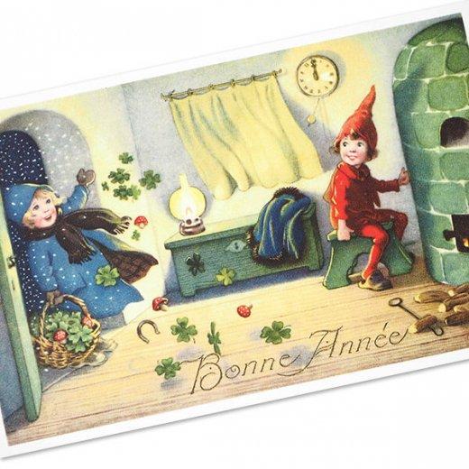 フランスポストカード (Bonne Annee H)【画像2】