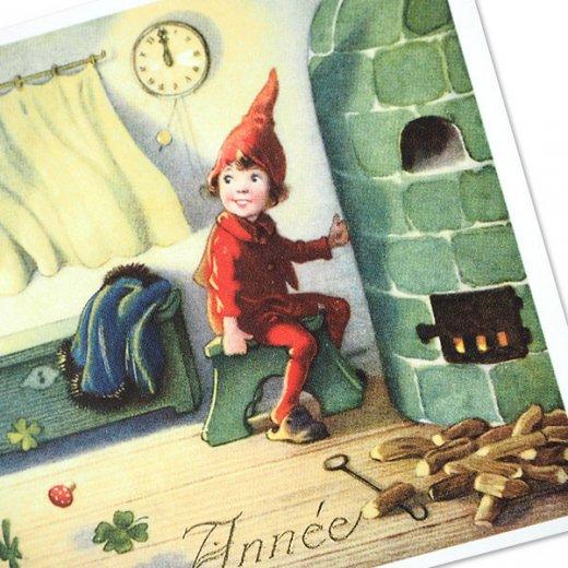 フランスポストカード (Bonne Annee H)【画像4】