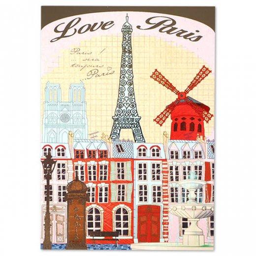 フランス ポストカード エッフェル塔 (Love paris / paris by light)