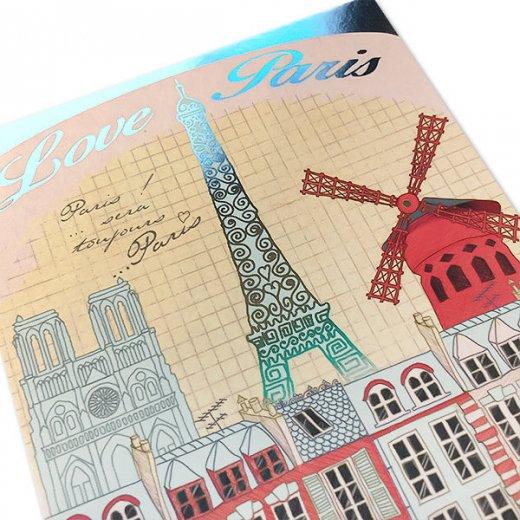 フランス ポストカード エッフェル塔 (Love paris / paris by light)【画像2】