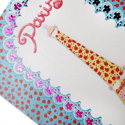フランス ポストカード エッフェル塔 ストロベリー イチゴ (strawberry / paris by light)【画像4】