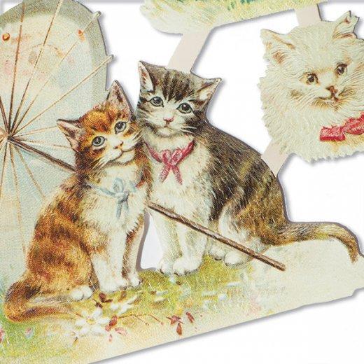 ドイツ クロモス【M】( リボン猫 )【画像4】
