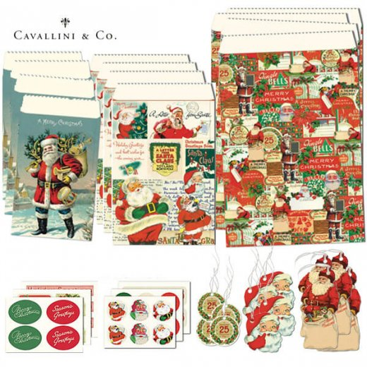 Cavallini & Co. カバリーニ クリスマス ラッピングセット【ヴィンテージ クリスマスB】【画像3】