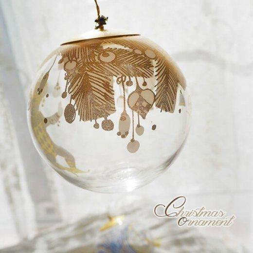 ドイツ ヴィンテージ クリスマスオーナメント【3個セット】 直径8cm  小鳥・ピエロ・ライン【画像8】