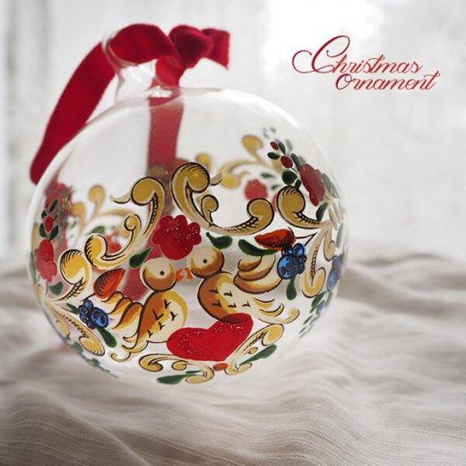 ドイツ ヴィンテージ クリスマスオーナメント【単品売り】 直径8cm  小鳥【画像7】