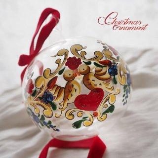 ドイツ ヴィンテージ クリスマスオーナメント【単品売り】 直径8cm  小鳥