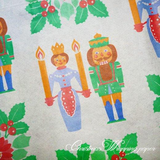 ドイツ クリスマス ヴィンテージ ラッピング包装紙 51×78cm【くるみ割り人形】【画像3】