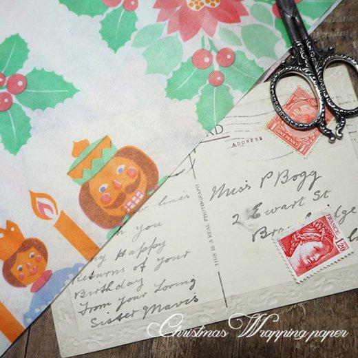 ドイツ クリスマス ヴィンテージ ラッピング包装紙 51×78cm【くるみ割り人形】【画像4】