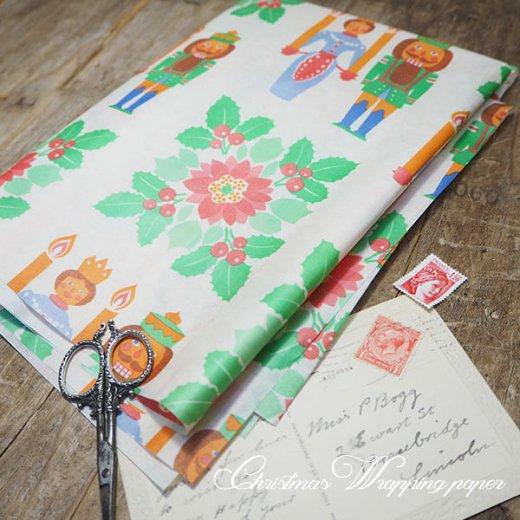 ドイツ クリスマス ヴィンテージ ラッピング包装紙 51×78cm【くるみ割り人形】【画像5】