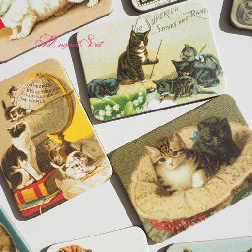 輸入マグネット 猫モチーフ【12枚set B-type】【画像2】
