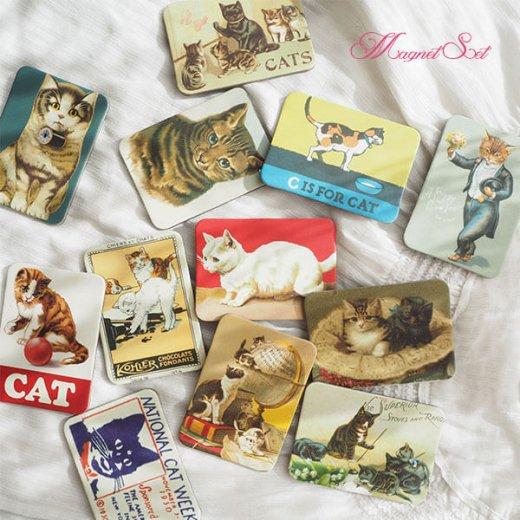 輸入マグネット 猫モチーフ【12枚set B-type】【画像7】