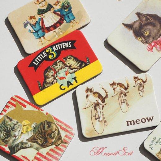 輸入マグネット 猫モチーフ 【12枚set A-type】【画像2】